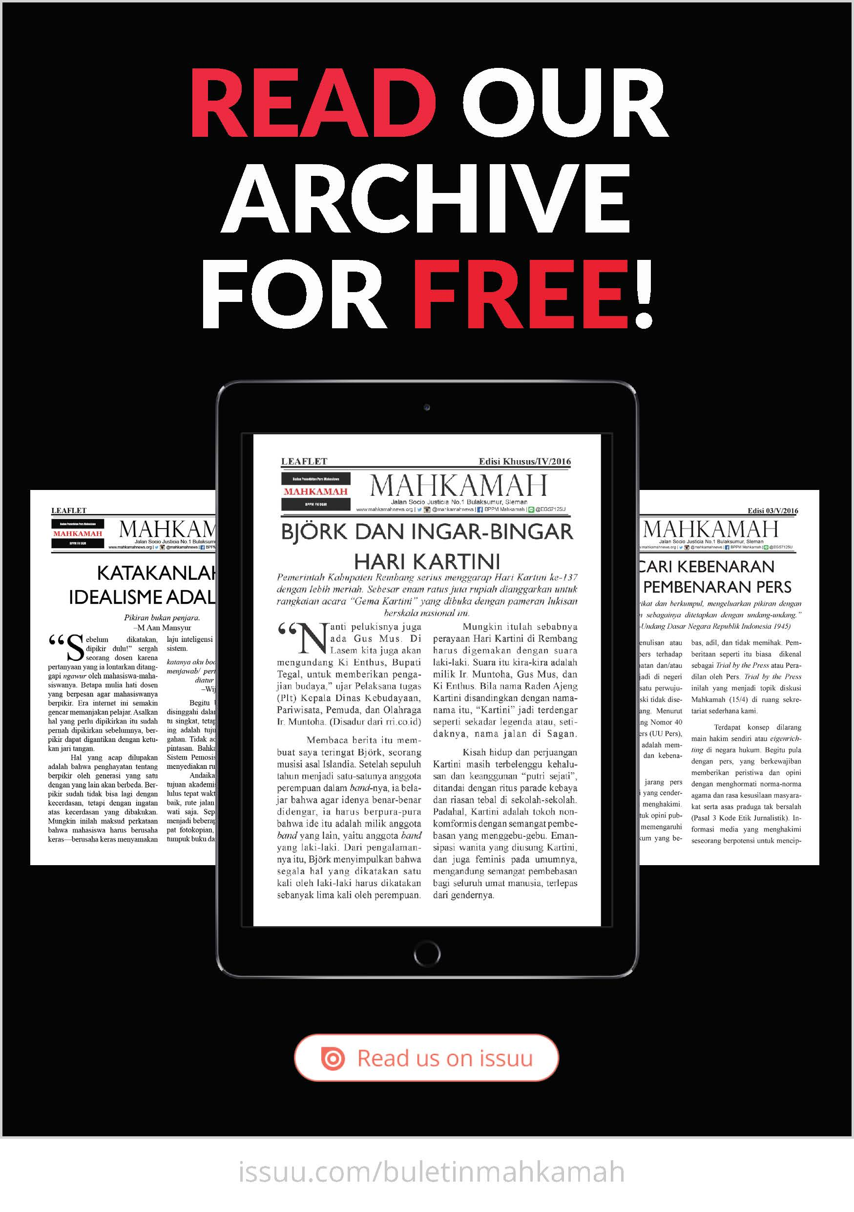 Click to read our archive for free!
