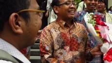 Pratikno pada Pelantikan Dwikorita Karnawati sebagai Rektor baru UGM, (24/11).