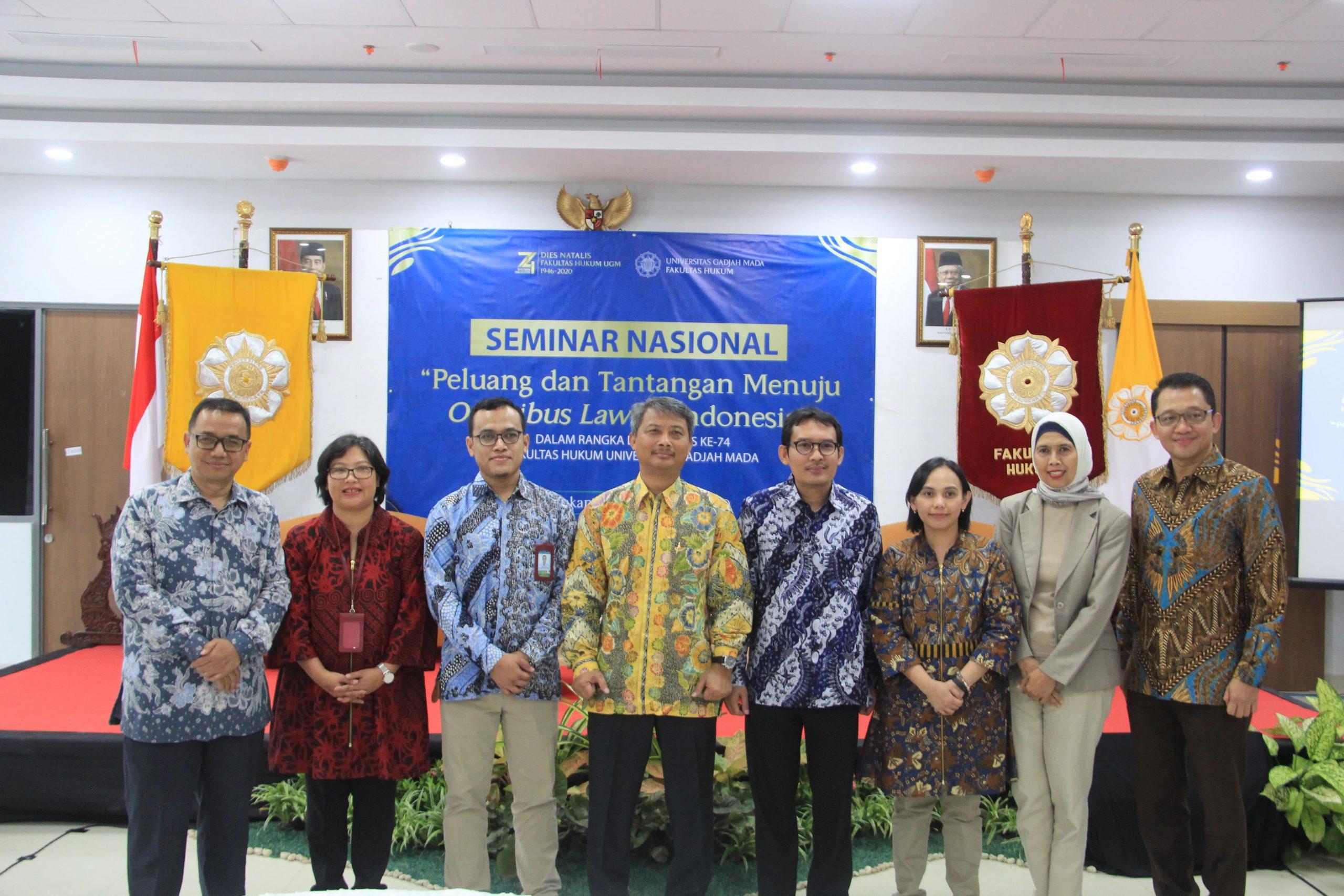 Seminar Nasional FH UGM: Peluang dan Tantangan Menuju Omnibus Law di Indonesia Ditinjau dari Perspektif Bisnis dan Perpajakan