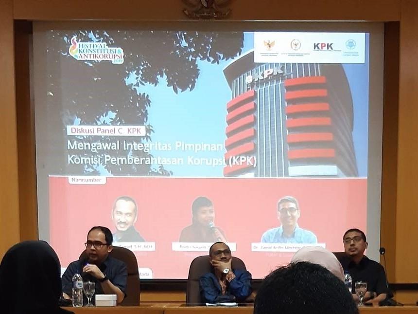 Diskusi Panel Bersama KPK: Mengawal Integritas Pimpinan Komisi Pemberantasan Korupsi